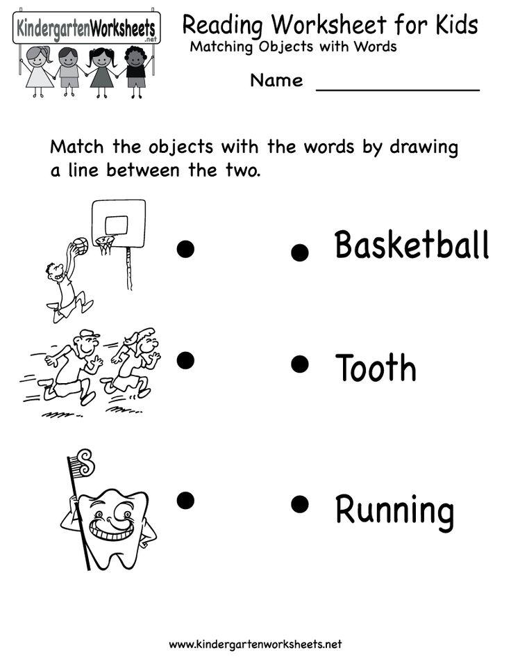 kindergarten reading worksheet for kids printable - Kids Printable Worksheets
