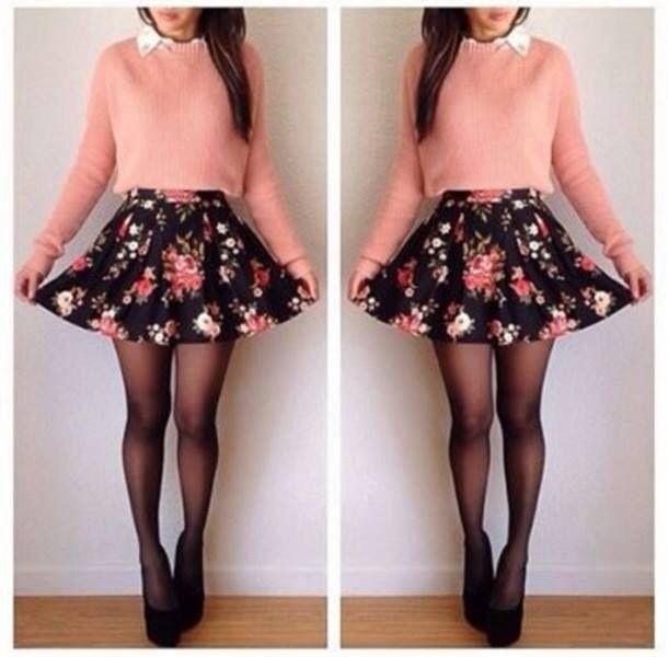 Medias y faldas circulares