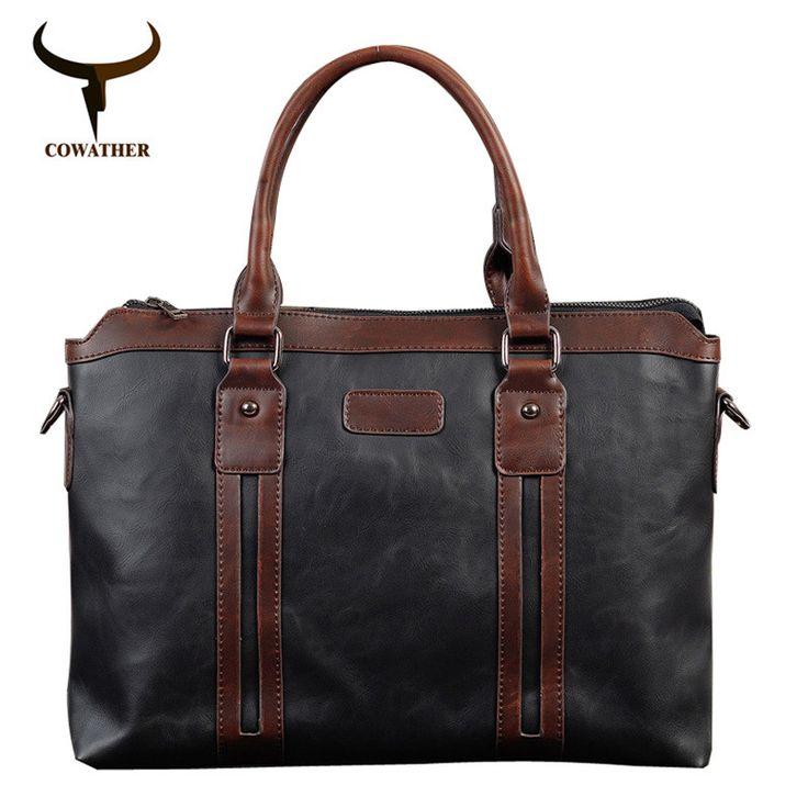 COWATHER top quality fashion men messenger vintage bags