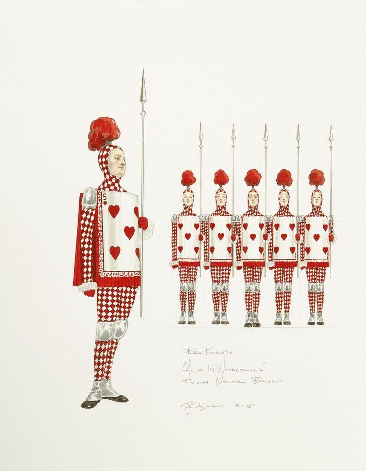 Alice in Wonderland costumes - Liisa Ihmemaassa, pukuluonnos