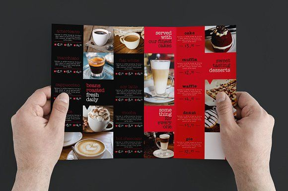 Trifold Cafe Menu Template by BrandPacks on @Graphicsauthor
