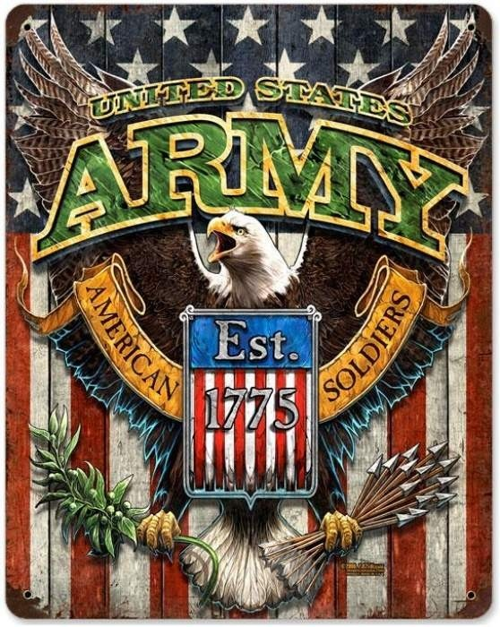 Vintage and Retro Wall Decor - JackandFriends.com - Vintage Army Eagle Metal Sign, $39.97 (http://www.jackandfriends.com/vintage-army-eagle-metal-sign/)