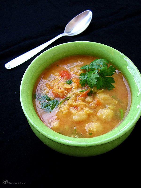 Recepty z Indie: Sosovicovo - paradajkova polievka s cicerom / Lentil - tomato…
