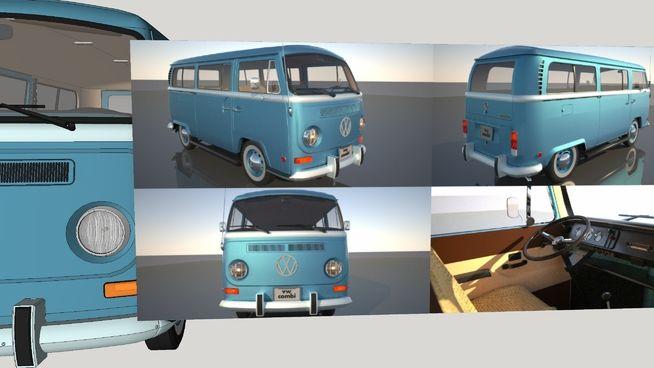VW Combi (Kombi) 1970 Maxwell texturized - 3D Warehouse