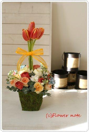 『【祝花】お誕生日には季節の花を・・・』 http://ameblo.jp/flower-note/entry-11465147543.html