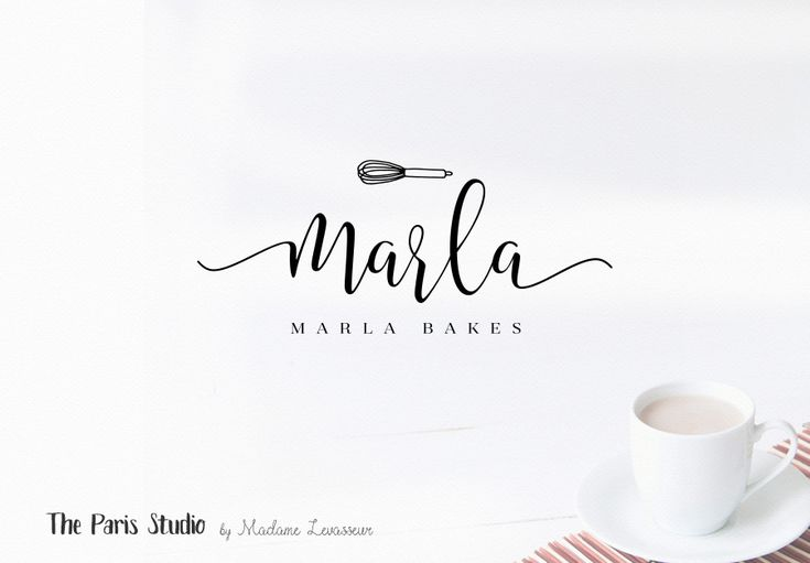 Hand Drawn Style Cupcake Bakery & Blog Logo Design for bakery logo, blog logo, boutique logo, restaurant logo, creative business branding or small business logo.