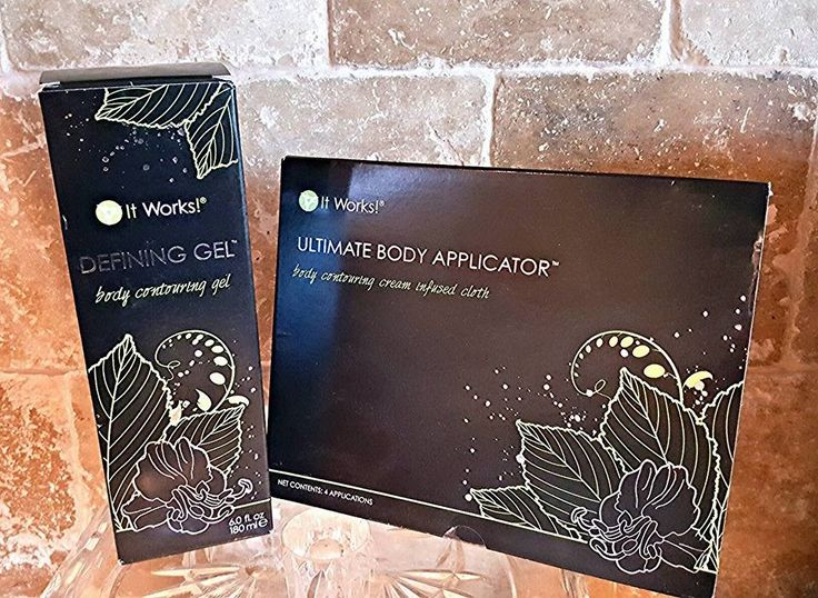 It Works Wrap: tons and tightens in 45 minutes and continues to work for 72 hours. It Works Defining Gel Both of these together help tighten and ton your targeted area that's you have been wanting to change