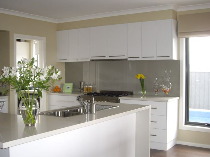 Laminex Polar White Cupboards - oooo, this is what we chose for our new house!!