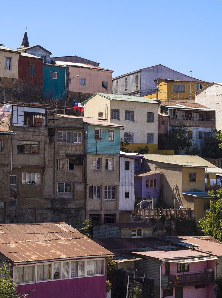 Bright Buildings of Valpariso.