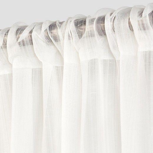 Textured Sheer Curtain Panel - Room Essentials™ : Target