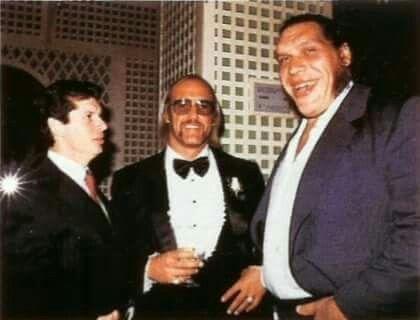 Hogan, McMahon and Andre the Giant at Hogans wedding
