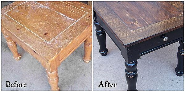 Simple Side Table Transformation  i totally need to do this to those old 60's end tables!