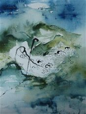 There is nothing I lack. #ink #watercolor  #painting #Psalm23 #Psalms23 #art by Hannele Rajala