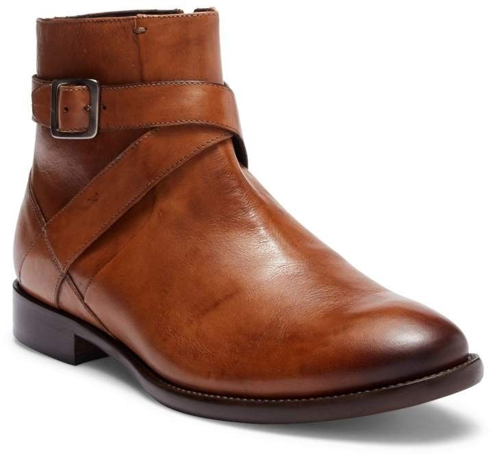 Bacco Bucci Violo Mid Buckle Leather Boot.   Leather boots, Boots, Buckle boots