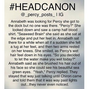 Instagram photo by _percy_posts_ - Headcanon 1 {My Edit Give Credit} Ok so this is another random #headcanon I thought of! If you repost please give creds All of my headcanons are here ➡️ #percypostsheadcanons Please don't use this hashtag I always post 3 headcanons in a row and I have so many people to tag so 1/3 of u is going to be tagged in the 1st headcanon then the other 1/3 in the 2nd then the other other 1/3 on the 3rd so just know that there are 3 headcanons in all u just have to go…