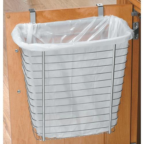 With this Axis Chrome Over Cabinet Wastebasket your plastic grocery bags won't go to waste.