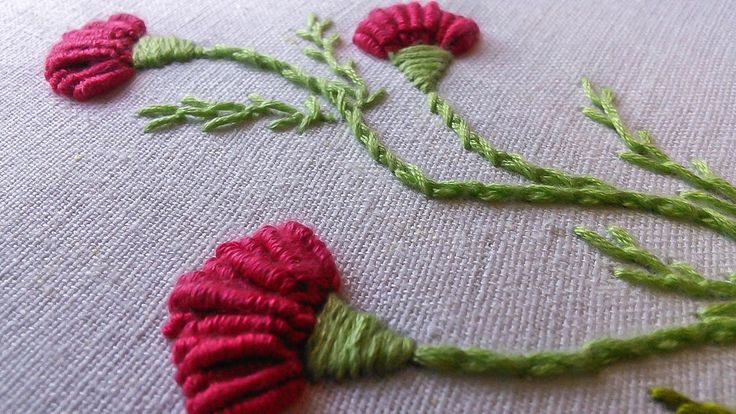 Hand Embroidery   Flower Designs for Dresses   HandiWorks #56