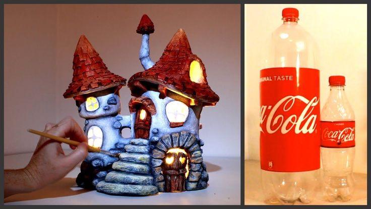 DIY Inn Fairy House Lamp Using Coke Plastic Bottles in