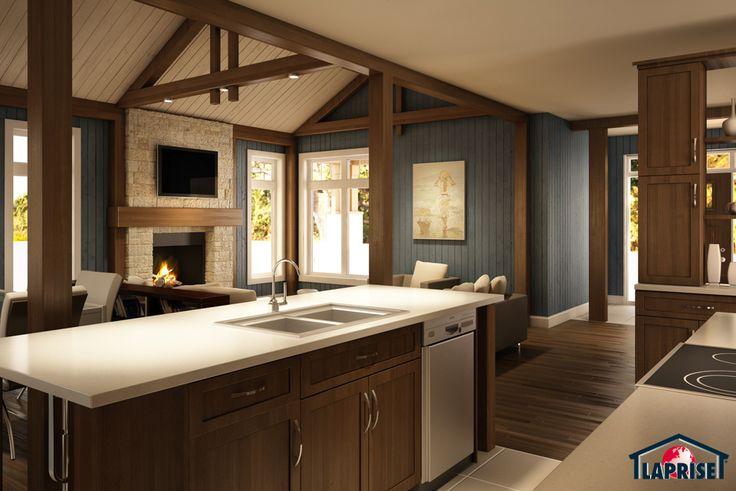 designer zen contemporain bordure de lac chalet lap0518 maison laprise maisons pr. Black Bedroom Furniture Sets. Home Design Ideas