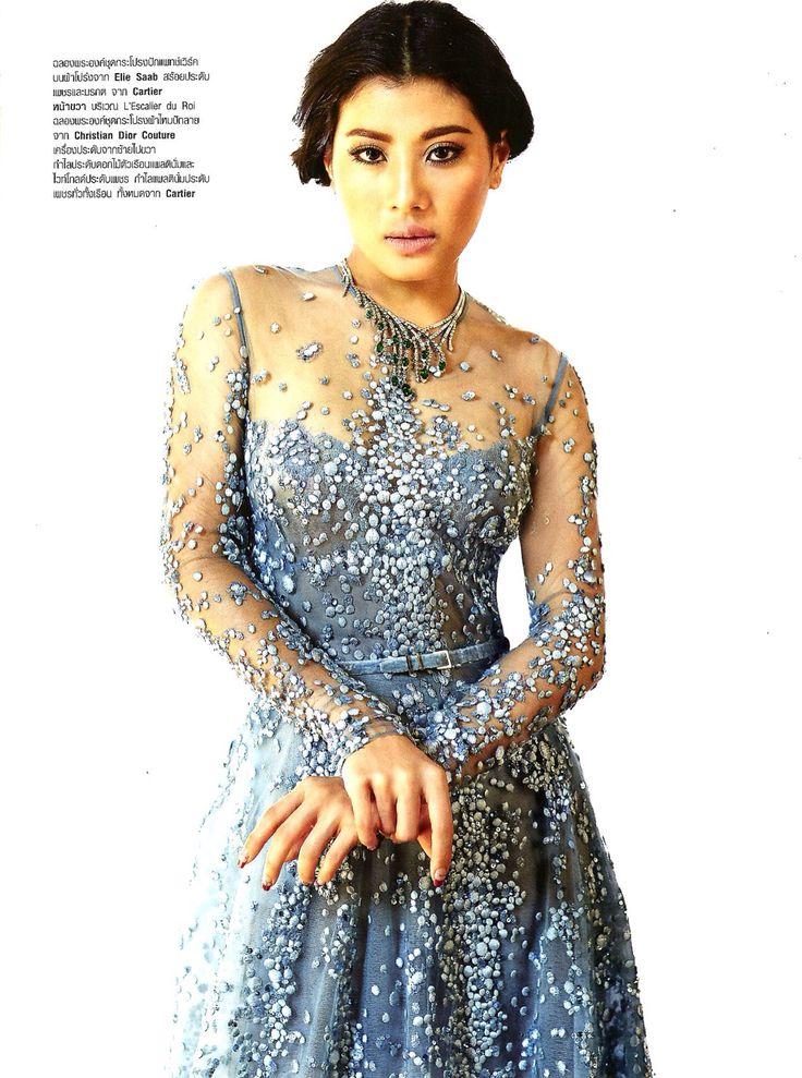 The Princess in the Château: HRH Princess Sirivannavari Nariratana in ELIE SAAB Fall 2014 Haute Couture for Harper's Bazaar Thailand December 2014