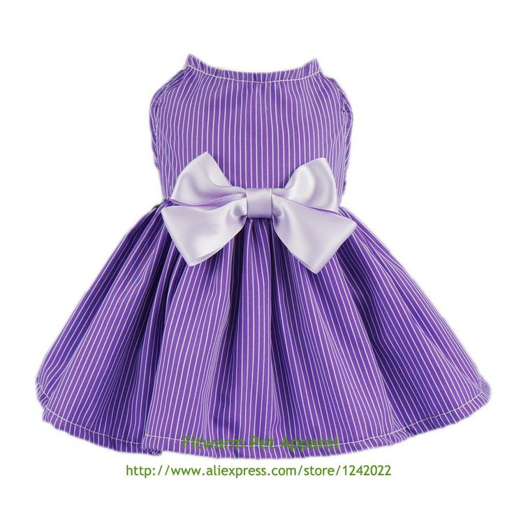 Fitwarm Elegant Dog Dress Pet Clothes Striped Shirts Cat Apparel, Purple Free Shipping XS Small Medium Large Chihuahua Bichon // FREE Shipping //     Get it here ---> https://thepetscastle.com/fitwarm-elegant-dog-dress-pet-clothes-striped-shirts-cat-apparel-purple-free-shipping-xs-small-medium-large-chihuahua-bichon/    #hound #sleeping #puppies