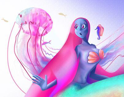"Check out new work on my @Behance portfolio: ""Digital Drawing: Mermaid Princess Aquarella"" http://be.net/gallery/37379853/Digital-Drawing-Mermaid-Princess-Aquarella"