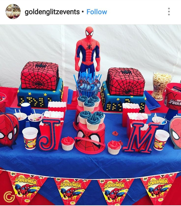 Spiderman Birthday Party Dessert Table And Decor