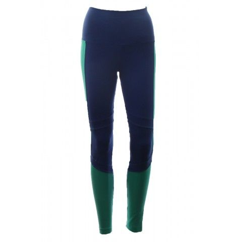 Legging Linda with zipper detail are looking so smart and best for #athleticwear. This is a combined color legging with blue and green. Order your own at http://riofitness.com.au #fitness #gymwear