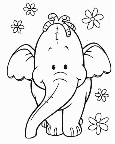 halloween heffalump coloring pages - photo#16