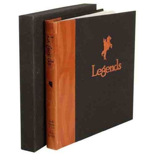 Legends: A Collection of Western Photographs, Signatures & Memories Book Autographed/Signed by 46. Roy Clark, Riders in the Sky, Barbara Mandrell, Brooks & Dunn, Frankie Laine, Emmylou Harris, Charlie Daniels, Mel Tillis, The Statler Brothers, The Oak Ridge Boys. Genre: Western. Universal Autograph Collectors Club Registered Dealer Member #RD310. Actors: James Arness, Monte Hale, Sam Elliot, Red Buttons, Kevin McCarthy. Hardcover with original slipcase, 9.25 x 9.25.