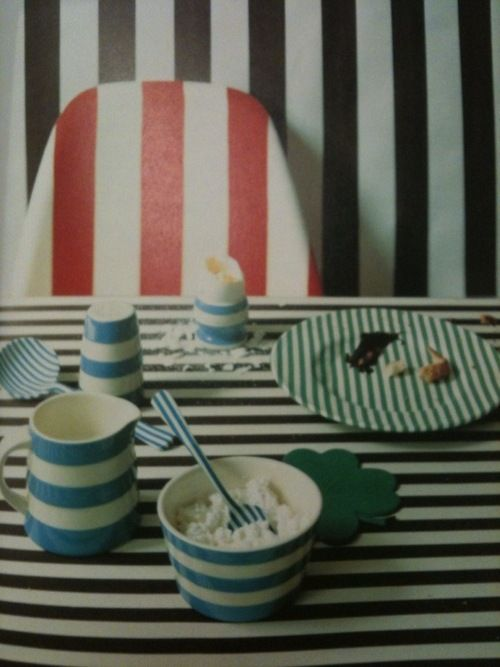 stripes-- I don't know that this is Marimekko, but it definitely has 'the vibe'.