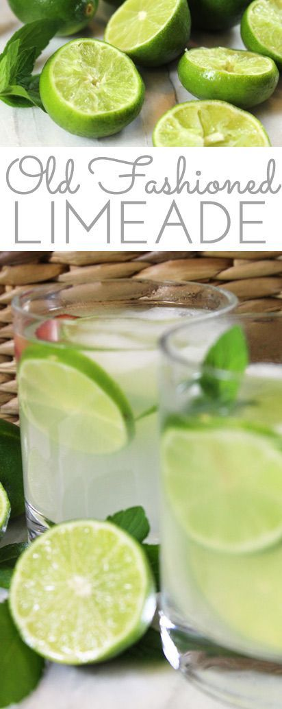 Old Fashioned Fresh Squeezed Limeade Recipe: lime juice combines w/sugar in this easy recipe for a refreshingly sweet tart summer sipper for all to enjoy! Pinned 1K+