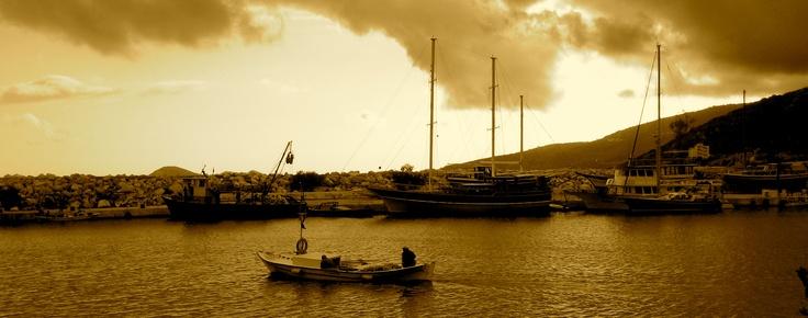 Local fisherman starting his day at Kalkan, Turkey
