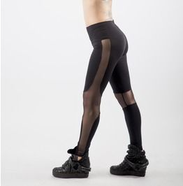 Black Leggings, Sexy Le G Gings, Burningman Clothing, Sheer Leggings, Mesh