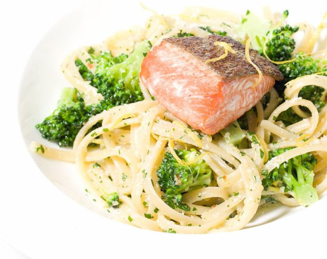 Parsley Pesto Pasta with Salmon | Food Lova!! | Pinterest