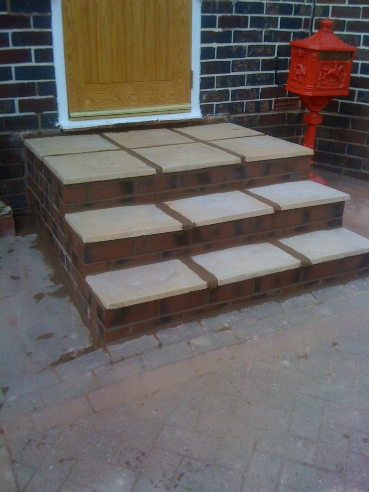 Brick steps replacement