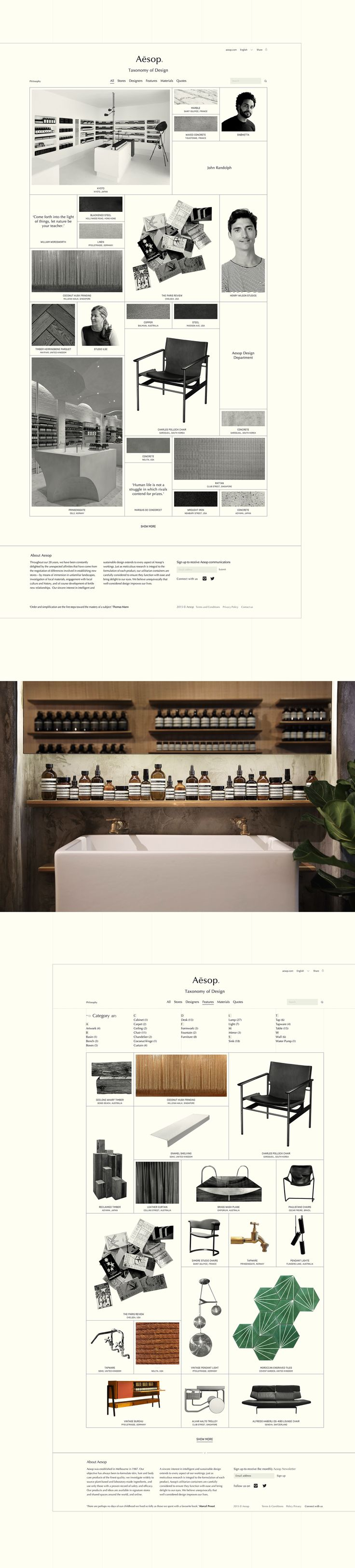 Aēsop Taxonomy of Design on Behance
