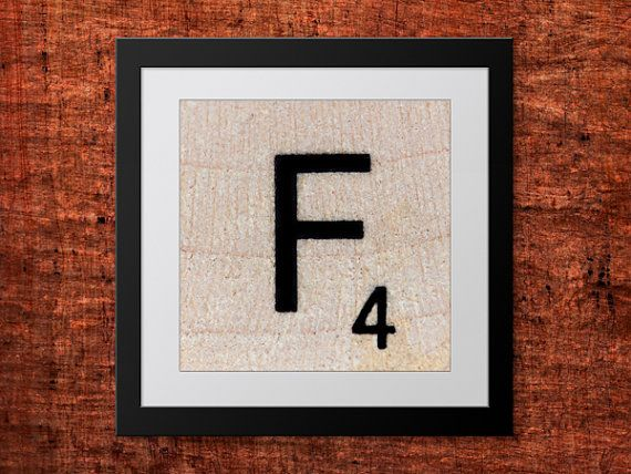 **Buy 2 get 1 FREE #teampinterest DIY Wall Art, Letter F-Personalized Word Art, Instant Download, Printable Letter, Scrabble Wall Art, Alphabet Art, Downloadable Image