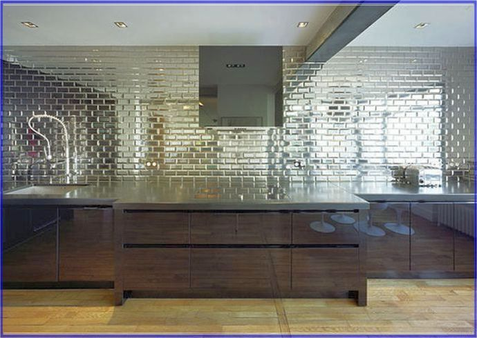 17 best ideas about mirrored subway tiles on pinterest for Mirrored subway tiles