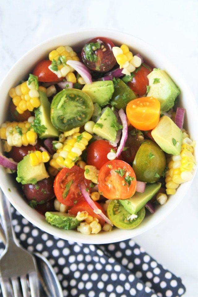 Fresh Corn, Avocado, and Tomato Salad – The Tasty Bite