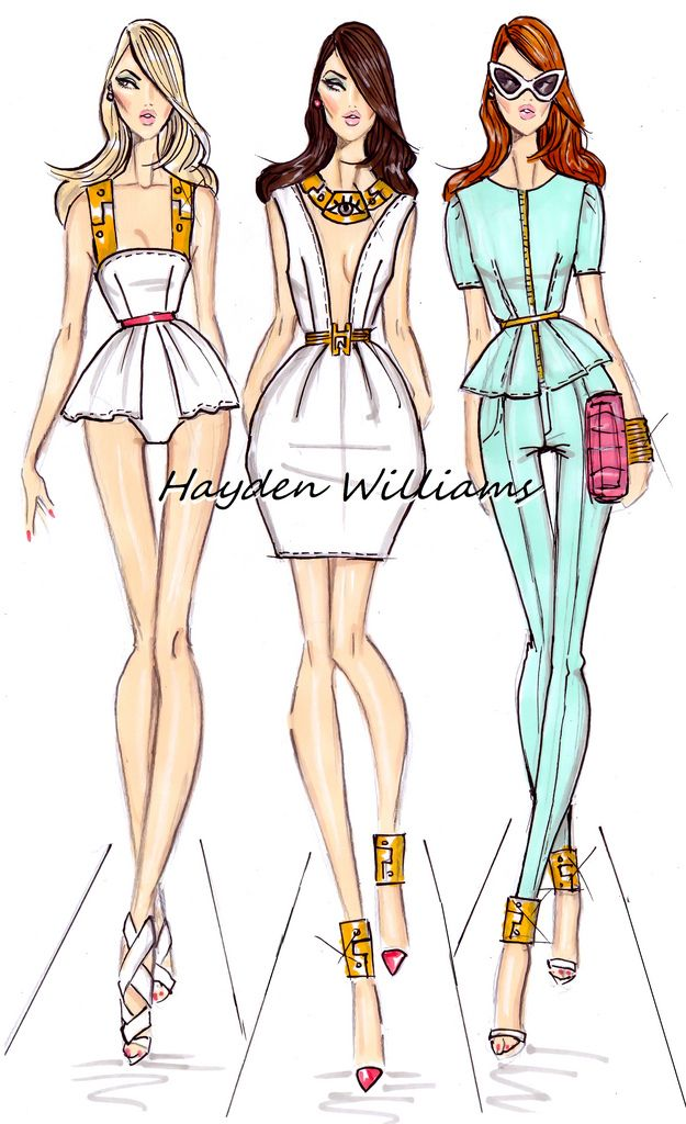 #Hayden Williams Spring/Summer 2013 collection pt1Fashion Illustrations