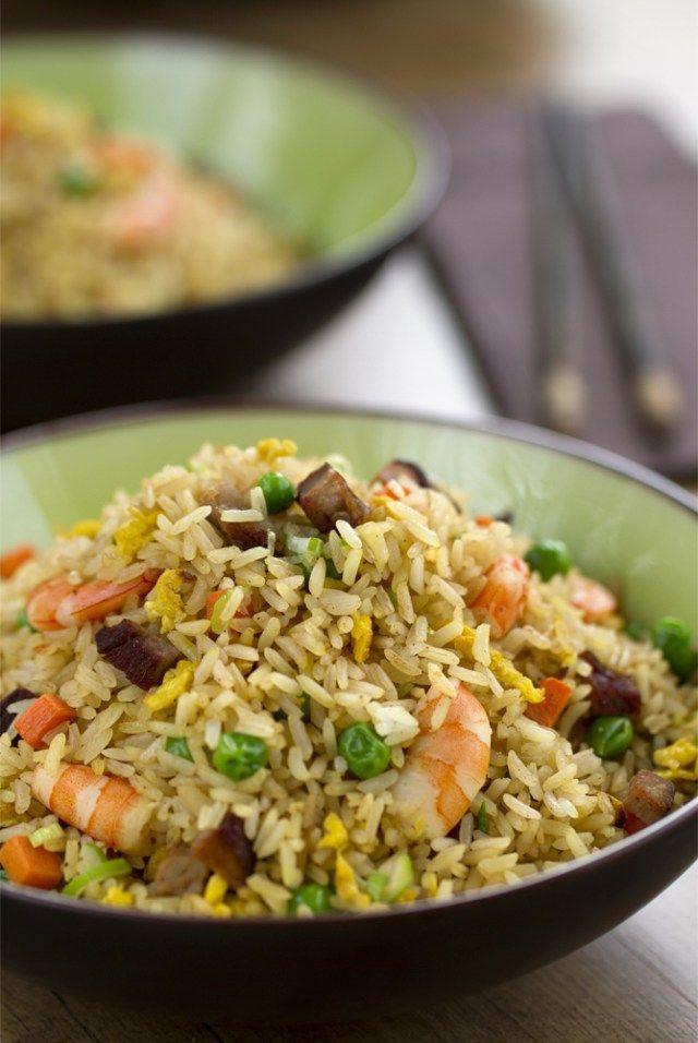 arroz frito, Arroz frito chino yangzhou, arroz tres delicias, cocina china, cocina asiática