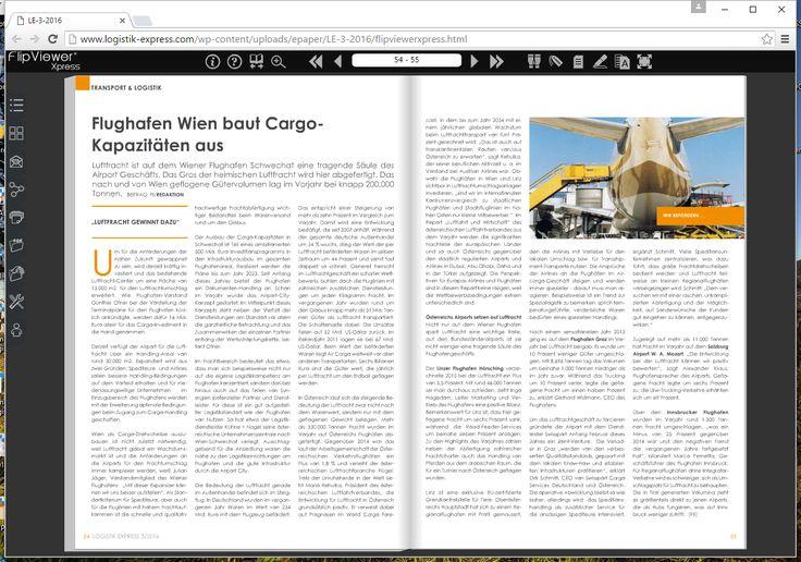 Flughafen Wien baut Cargo- Kapazitäten aus - http://www.logistik-express.com/flughafen-wien-baut-cargo-kapazitaeten-aus/