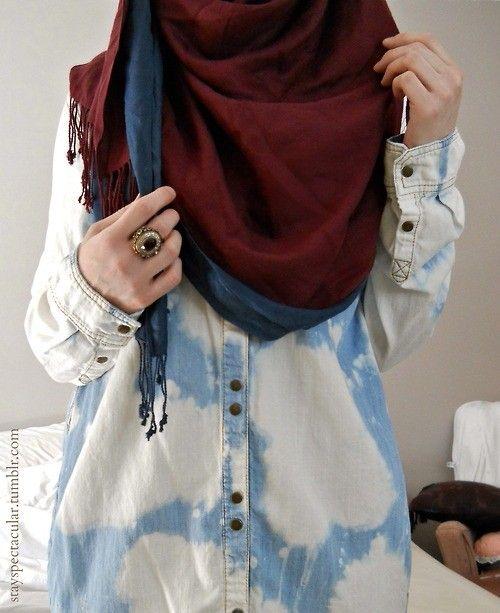 denim + hijab