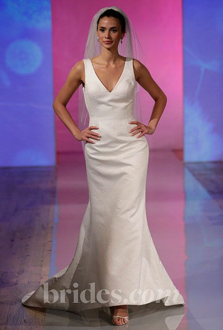Brides.com: Fall 2013 Wedding Dress Trends. Trend: Sleek, Minimalist Wedding Dresses. Gown by Robert Bullock  See more Robert Bullock wedding dresses in our gallery.