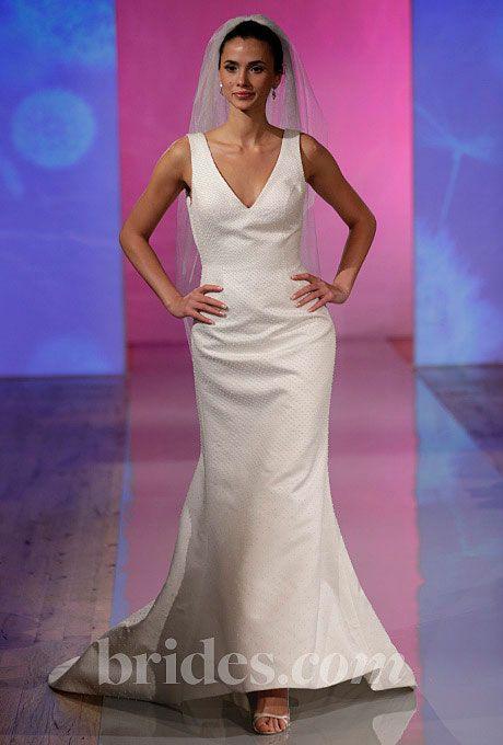 Brides.com: Fall 2013 Wedding Dress Trends. Trend: Sleek, Minimalist Wedding Dresses. Gown by Robert Bullock  See more Robert Bullock wedding dresses in our gallery.