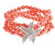 Starfish & pearl bracelet