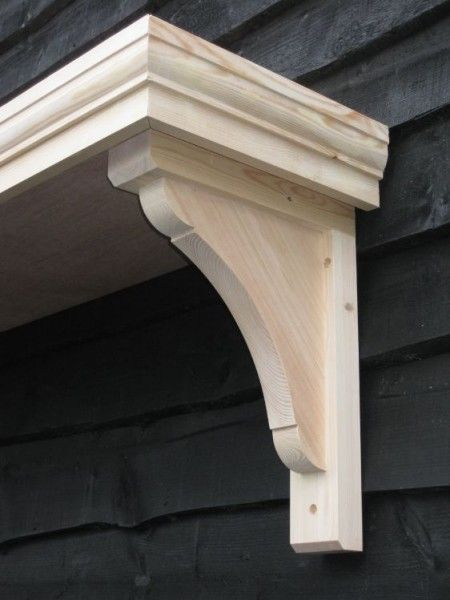 Timber door canopies _ flat roofed canopies _leaded canopies