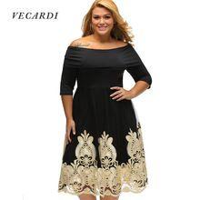 VECARDI Plus Size Nuevas Mujeres Ropa Streetwear OL Encaje Sexy Básica vestido Del Remiendo Delgado Vestido de Gran Tamaño S M L XL XXL XXXL