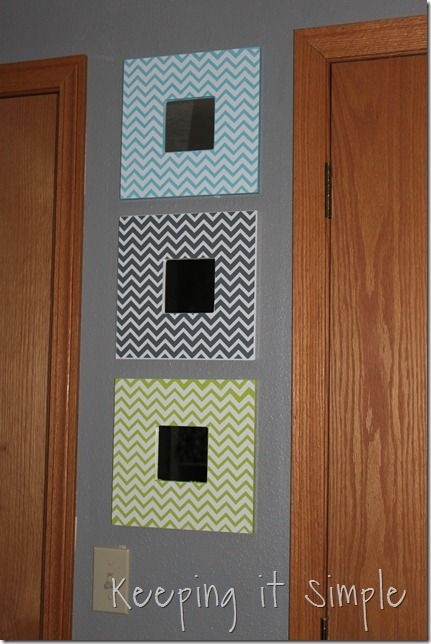 diy chevron mirrors :: by keeping it simple